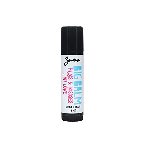 Zandra Big Balm - Lip+Body Balm - For Lips and Other Dry Skin Areas, Made with Shea butter, Coconut, Sunflower, Avocado and Castor Oil - Filled with Vitamin E - ALMOND ALFRESCO (.5 oz)
