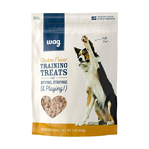 Amazon Brand – Wag Chicken Flavor Training Treats for Dogs, 1 lb. Bag (16 oz)