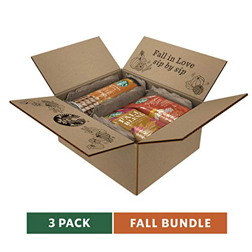 Starbucks Fall Bundle | 10 Ounce Fall Blend Medium Roast Ground Coffee, 11 Ounce Pumpkin Spice Flavored Ground Coffee and 20 Pumpkin Spice Cookie Straws | Limited Edition