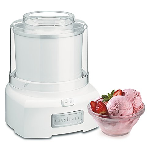 Cuisinart 1.5 Quart Frozen Yogurt ICE-21P1 Ice Cream Maker, Qt, White