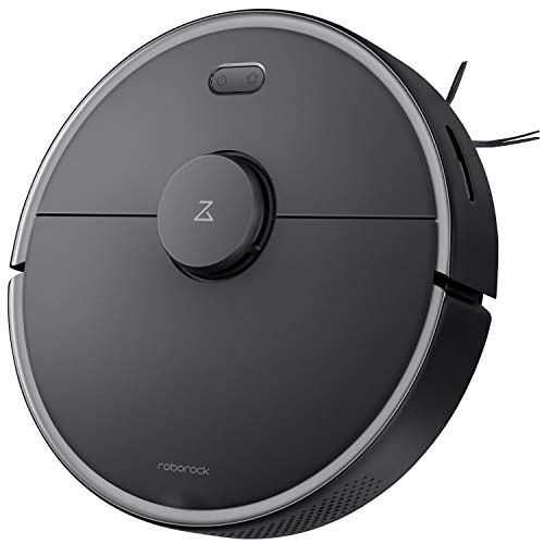 Roborock S4 Max Robot Vacuum with Lidar Navigation, 2000Pa Strong Suction, Multi-Level Mapping, Wi-Fi Connected with No-go Zones, Ideal for Carpets and Pets Robotic Vacuum