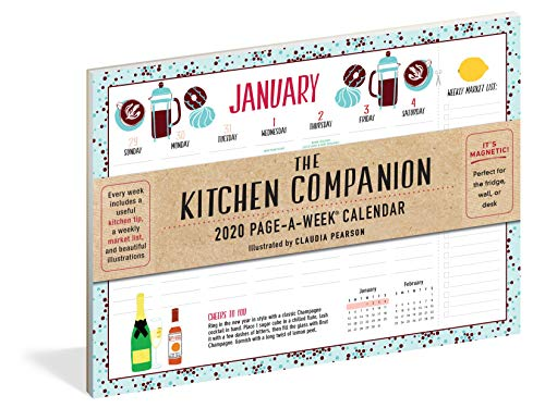 Kitchen Companion Page-A-Week Calendar 2020
