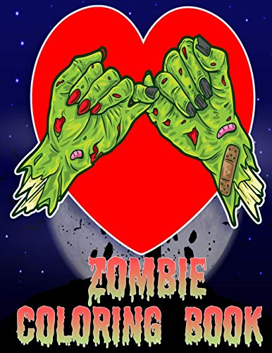 Zombie Coloring Book: Black backgroung: Over 100 Coloring Pages For Adult Relaxing and great zombie Designs for adults, kids, teenagers, and everyone ... with beautiful Modern cartoon zombie design