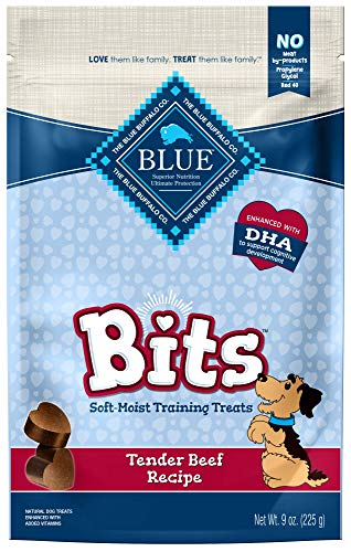 Blue Buffalo Blue Bits Natural Soft-Moist Training Dog Treats, Beef Recipe 9 Oz Bag