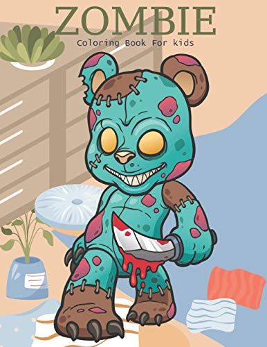 Zombie Coloring Book For Kids :: This Coloring Book Helps To Remove The Stress And Give You Relaxation.