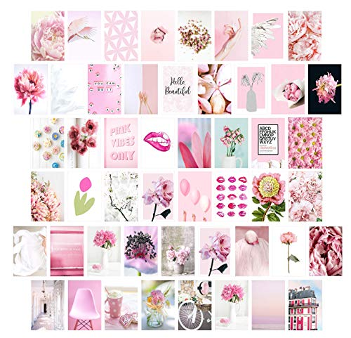 pink collage kit beautiful aesthetics gift