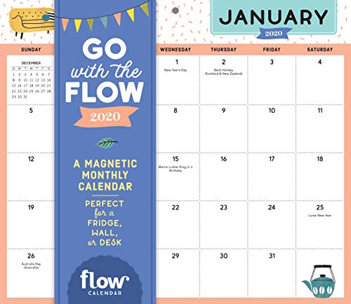 Go with the Flow Desk Calendar 2020