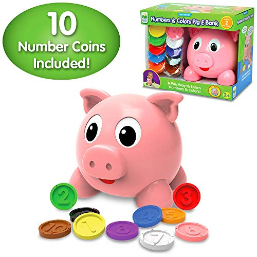 The Learning Journey Learn With Me – Numbers & Colors Pig E Bank – Color and Number STEM Teaching Toddler Toys & Gifts for Boys & Girls Ages 2 Years and Up – Award-Winning Preschool Learning Toy
