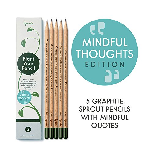 Sprout Pencils with Mindful Quotes