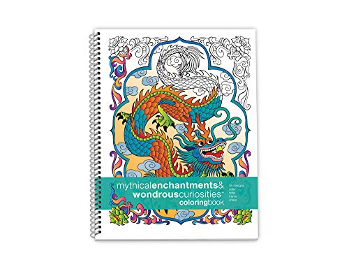 Action Publishing Coloring Book: Mythical Enchantments · Fantasy, Magic and Fairy Tale Designs for Stress Relief, Relaxation and Creativity · Large (8.5 x 11 inches) Kathryn Marlin