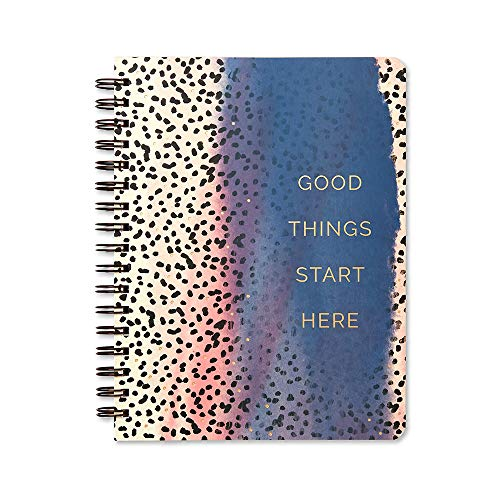 Wire-O Notebook by Compendium: Good Things Start Here - 192 lined pages