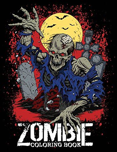 Zombie Coloring Book: for Everyone, Adults, Teens and Zombie Lover Gorgeous Zombie, Relaxing and Inspiration (Black Background, Zombie Coloring )