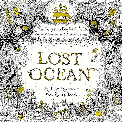 Lost Ocean: An Inky Adventure and Coloring Book for Adults (PENGUIN BOOKS)