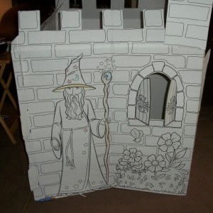 100 1082 RoseArt Color Castle Playhouse