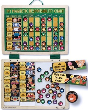 Melissa and Doug Deluxe Magnetic Responsibility Chart