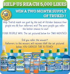Help TruKid Reach 5000 Facebook Fans and You Could Win a Two-Month Supply
