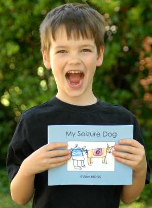 EvanMoss Photo An Inspirational Tale: 7-Year-Old CreateSpace Author Raises Money for Seizure Dogs
