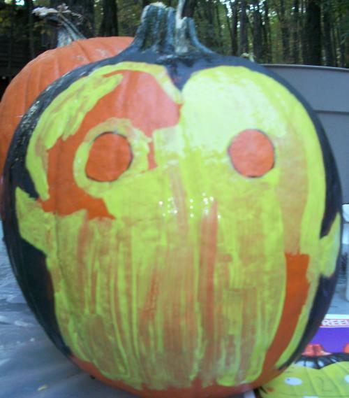FP3 It's Vampenstein Pumpkin- A Fun Painted Pumpkin Craft