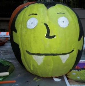 FP4 It's Vampenstein Pumpkin- A Fun Painted Pumpkin Craft