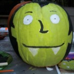 It's Vampenstein Pumpkin- A Fun Painted Pumpkin Craft