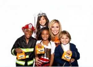 Heidi Klum and TOT Kids UNICEF Trick-or-Treat For Unicef Goes High-Tech