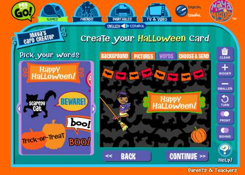 card Fun Online Halloween Games For Kids