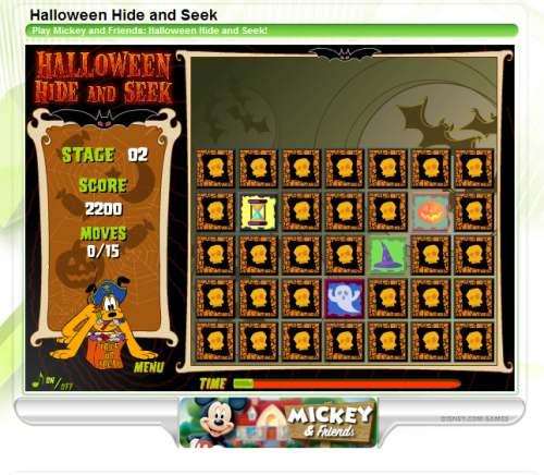disney Fun Online Halloween Games For Kids
