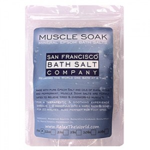 muscle 100% Natural Muscle Soak Bath Salt by San Francisco Salt Company Review