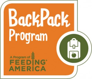 BackPack logo Pack it Til They're Back and Help Feeding America Prevent Hunger