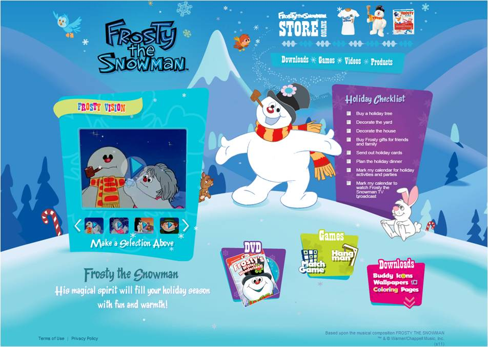 Have Some Winter Fun At Frosty The Snowmans New Website DVD