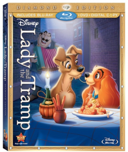 LadyAndTheTrampDiamondED3DiscBlurayComboArt Small Lady and the Tramp Diamond Edition on Blu-Ray/DVD Review