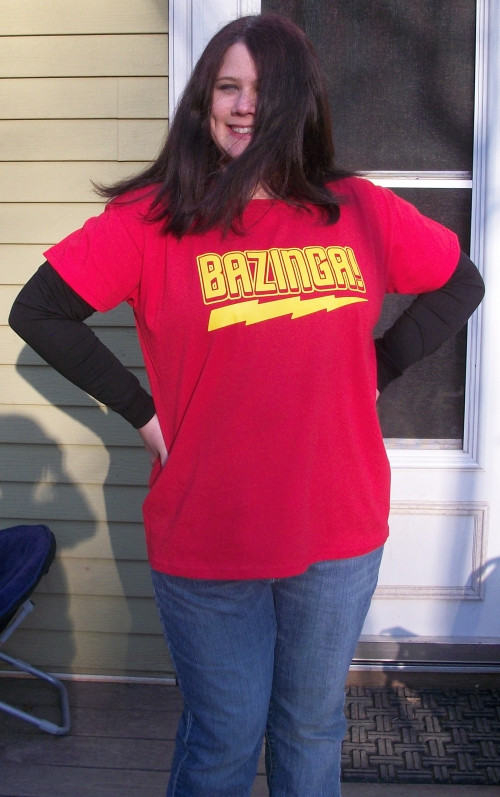 "100 2588 Loving my ""Bazinga!"" Shirt from Five Finger Tees!"