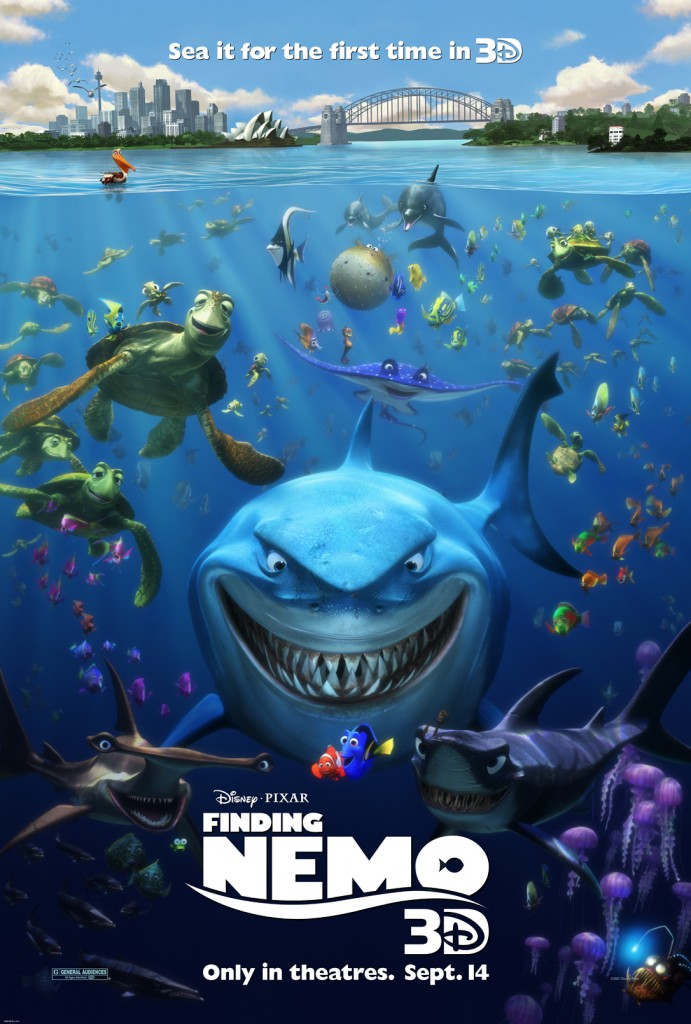 FindingNemo3DPoster 1 2 A Peek At the Finding Nemo 3D Poster + Theatrical Trailer