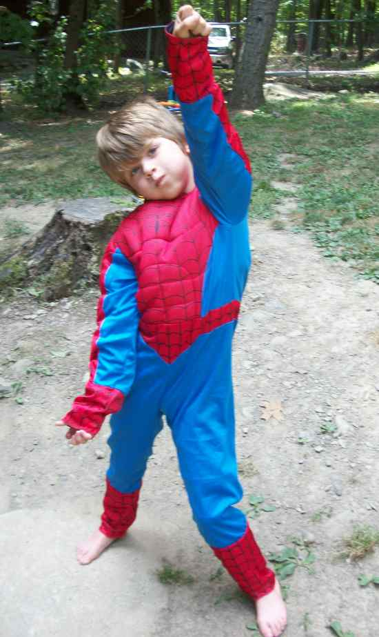 100 3542 Reversible Spiderman Costume for the Kid That Can't Decide!