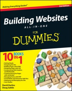 1118270037 Building Websites All-in-One for Dummies Review + Giveaway
