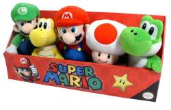 SM 8in Plush 5pack copy Super Mario Collector Plush Pack Review + Giveaway