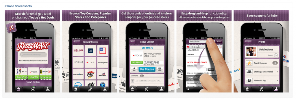 SZr7rV Finds Deals on the Go with the RetailMeNot iPhone App! #CouponsApp