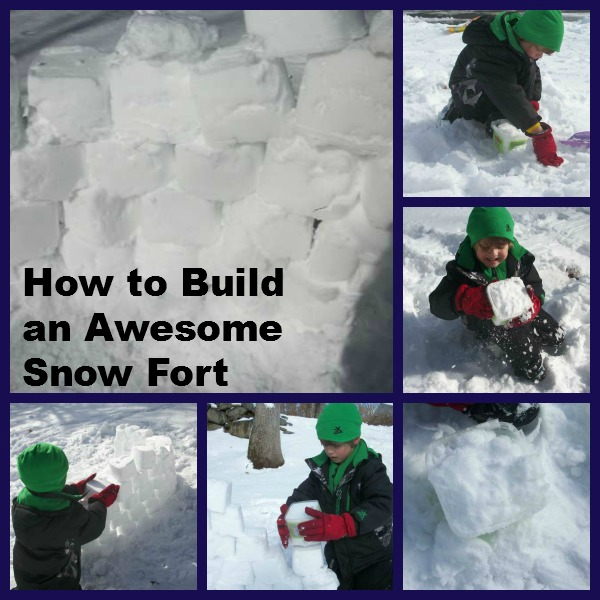 how to build a snow fort