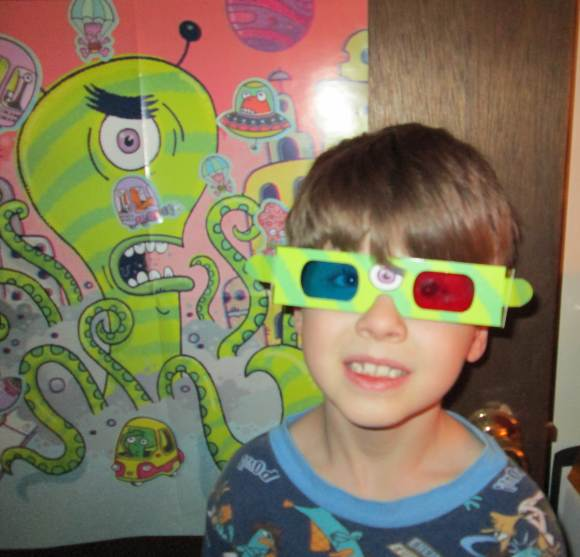 Aliens Attack 3D Stickers and Poster from Peaceable Kingdom