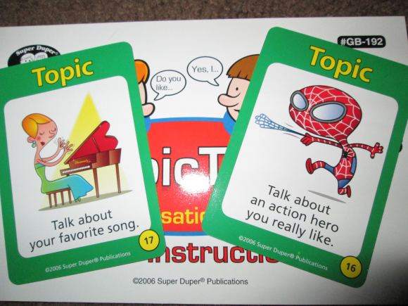 Topic Talk Cards