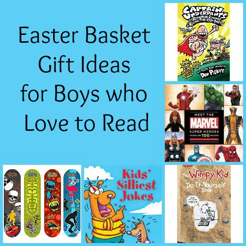 Easter Basket Gift ideas for boys who love to read