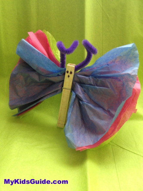 Easter Crafts Tissue Paper Butterfly