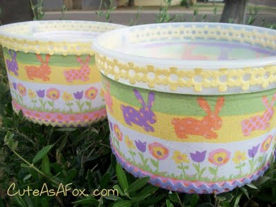Easter Crafts: Ice-Cream Bucke Easter Basket