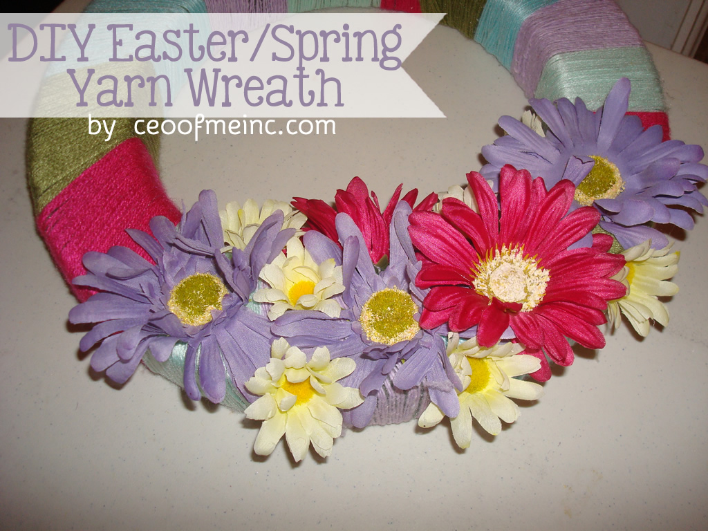 Easter Crafts: DIY Yarn Wreath