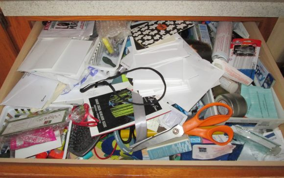 Incredibly Messy Junk Drawer