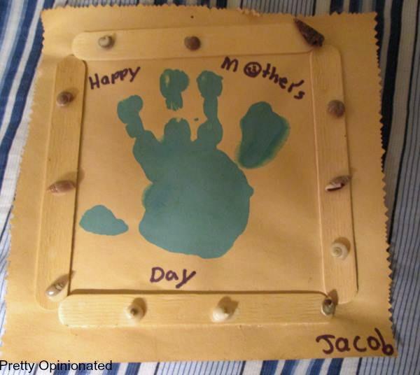 Mother's Day Crafts: Framed Handprint