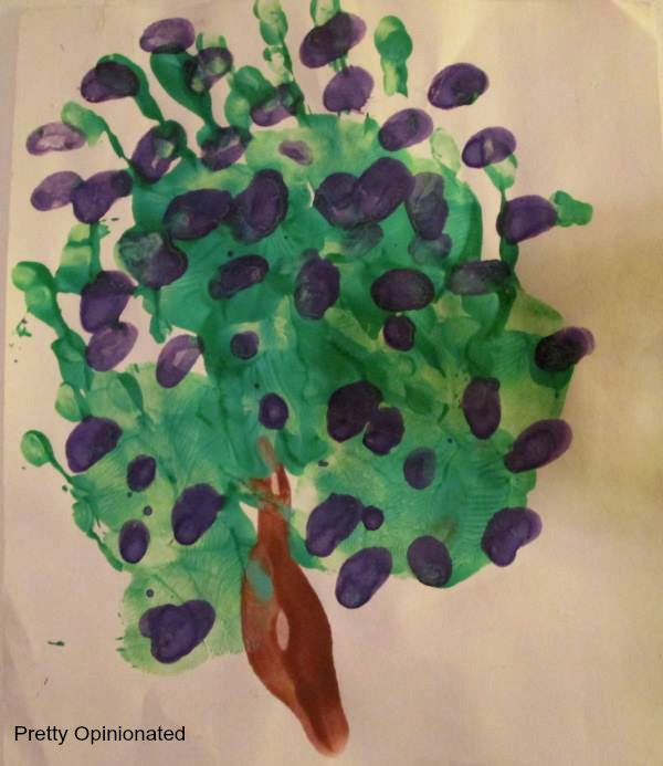 Mother's Day Crafts: Hand Print Tree