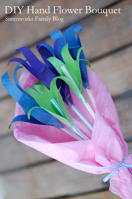 Mother's Day Crafts: Hand Flower Bouquet