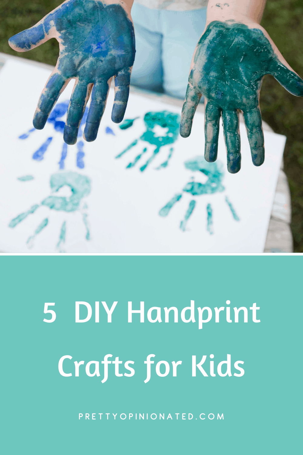 Keep kids busy indoors and get a head start on your Mother's Day gifts with these 5 super cute handprint crafts for all ages! Check them out!