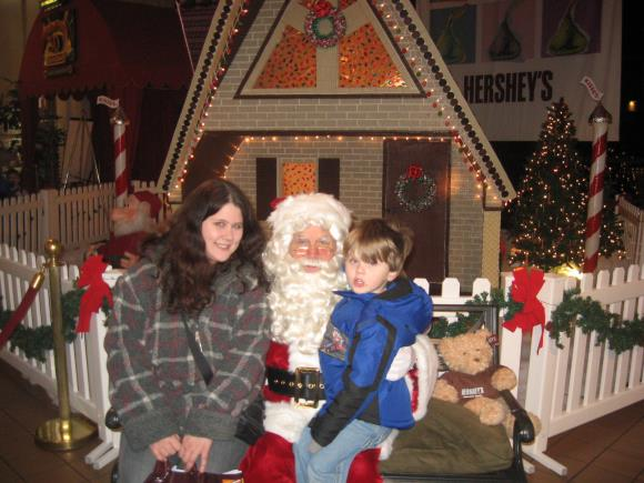 Visiting Santa at Hershey Chocolate World